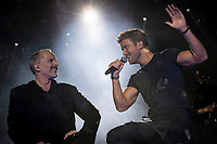 Spanish Singer Miguel Bose in collaboration with singer Pablo Alboran during the first stop of his tour 'Estaré' at Wizink Center in Madrid, June 23, 2017. Spain.<br /> (ALTERPHOTOS/BorjaB.Hojas) (NortePhoto.com) (NortePhoto.com)