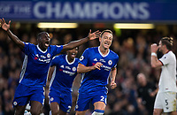Chelsea's John Terry celebrates scoring the opening goal  <br /> <br /> <br /> Photographer Craig Mercer/CameraSport<br /> <br /> The Premier League - Chelsea v Watford - Monday 15th May 2017 - Stamford Bridge - London<br /> <br /> World Copyright &copy; 2017 CameraSport. All rights reserved. 43 Linden Ave. Countesthorpe. Leicester. England. LE8 5PG - Tel: +44 (0) 116 277 4147 - admin@camerasport.com - www.camerasport.com