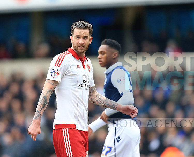Sheffield United's David Edgar in action during the League One match at The Den.  Photo credit should read: David Klein/Sportimage