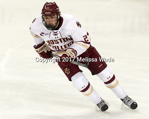 Graham McPhee (BC - 27) - The Boston College Eagles defeated the visiting UConn Huskies 2-1 on Tuesday, January 24, 2017, at Kelley Rink in Conte Forum in Chestnut Hill, Massachusetts.