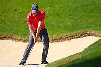 David Horsey in the sand at the #3 green during the BMW PGA Golf Championship at Wentworth Golf Course, Wentworth Drive, Virginia Water, England on 25 May 2017. Photo by Steve McCarthy/PRiME Media Images.