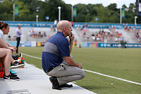 Cary, North Carolina  - Saturday July 01, 2017: Paul Riley during a regular season National Women's Soccer League (NWSL) match between the North Carolina Courage and the Sky Blue FC at Sahlen's Stadium at WakeMed Soccer Park. Sky Blue FC won the game 1-0.