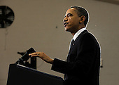 United States President Barack Obama lays out an energy policy during a speech at Georgetown University in Washington on March 30, 2011. Obama said he wants the U.S. to reduce oil imports by a third in the next 10 years.   .Credit: Roger L. Wollenberg / Pool via CNP