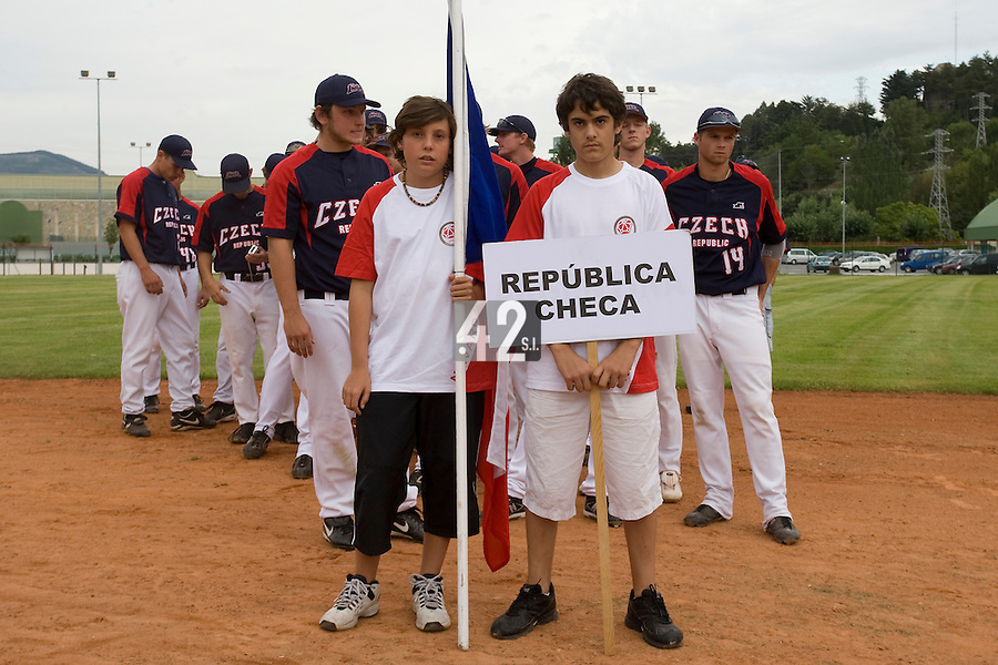 BASEBALL - EUROPEAN UNDER -21 CHAMPIONSHIP - PAMPELUNE (ESP) - 03 TO 07/09/2008 - PHOTO : CHRISTOPHE ELISE.CZECH REPUBLIC VS SPAIN (WINNER 6-2) - OPENING CEREMONY
