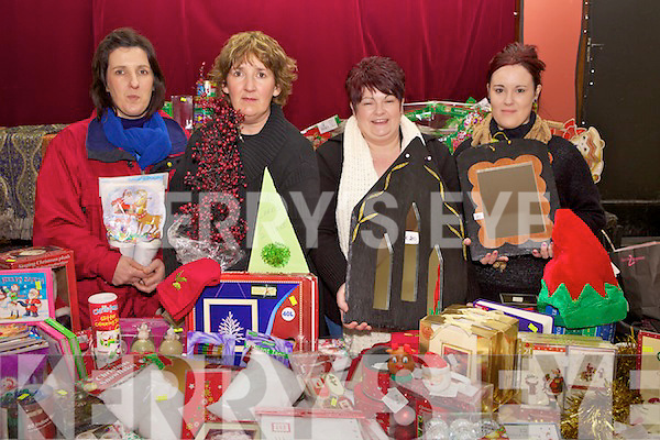 Eleanor Cronin and Breda Dowling from Listowel and mother and daughter Denise and Veronica O'Sullivan from Causeway at the Annual Christmas Food & craft fair held last Suday in Asdee community centre in aid of Asdee Daisy Chains Preschool