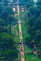 Sigiriya Rock (an ancient rock fortress), Central Province, Sri Lanka.