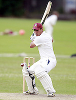 Will Russell bats for Highgate during the Middlesex County Cricket League Division Three game between Highgate and North London at Park Road, Crouch End on Sat July 12, 2014