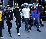 10.05.2019, Circuit de Catalunya, Barcelona, FORMULA 1 EMIRATES GRAN PREMIO DE ESPAÑA 2019<br /> , im Bild<br />Daniel Ricciardo (AUS#3), Renault F1 Team, Nico Hülkenberg (GER#27), Renault F1 Team, Carlos Sainz Jr. (SPA#55), McLaren F1 Team, Daniil Kvyat (RUS#26), Red Bull Toro Rosso Honda<br /> <br /> Foto © nordphoto / Bratic