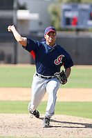 Jose Flores, Cleveland Indians 2010 minor league spring training..Photo by:  Bill Mitchell/Four Seam Images.