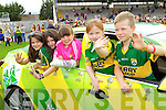 Melissa Aherne, Claudia Counihan, Emma Griffin, Ciara Casey and Jason Casey at Kerry GAA family day at Fitzgerald Stadium on Saturday.
