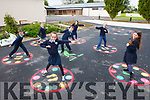 Pupils from St Oliver's National School in Ballylongford are having great fun at school after new playground markings were put down last week. Pictured were: Fionn Byrne, Eimear O'Sullivan, Clodagh Heaphy, Cathal Byrne, Ella Flavin Parkinson, Ross O'Neill and Saoirse O'Brien.