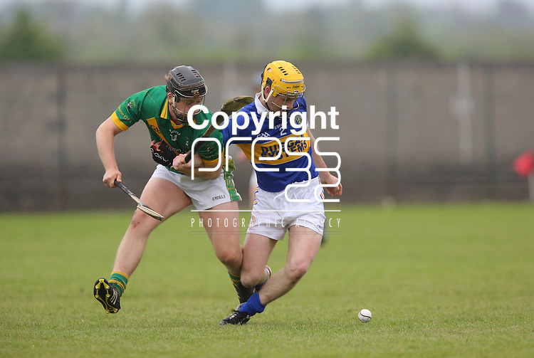 Ahane Cathal Ryan &amp; Patrickswell Kelvin Lynch in action during their Senior Hurling Championship Round 1 Game played in Bruff Co.Limerick.<br /> Pictured Credit Brian Gavin Press 22