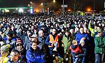 """05.12.2019, Baywa-Gelaende, Memmingen, GER, Bauern-Demonstration in Memmingen, Ueber 4000 Bauern demonstrierten mit fast 3000 Traktoren in Memmingen. Organisiert wurde die Demo von """"Land schafft Verbindung"""". Auf der anschliesenden Kundgebung sprach ua. die bayr. Landwirtschaftsministerin Michaela Kaniber, <br /> im Bild Landwirte am Veranstaltungsort<br /> <br /> Foto © nordphoto / Hafner"""
