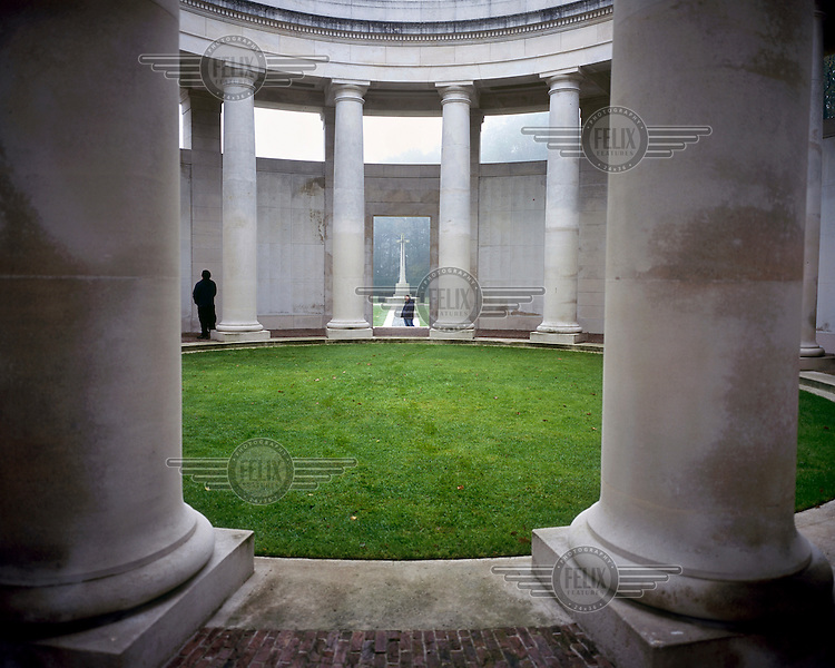 The Ploegsteert Memorial near Mesen, Ypres. The memorial comemorates the more than 11,000 British and South Africans for whom there is no known grave.