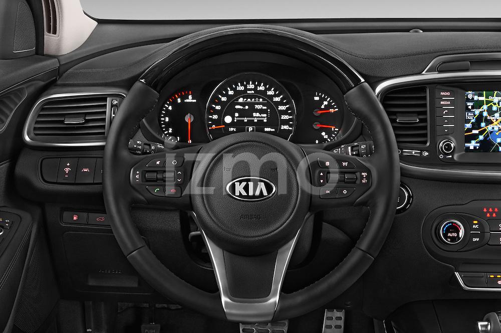 Car pictures of steering wheel view of a 2015 KIA Sorento Fusion AWD 5 Door Suv Steering Wheel