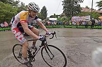 PESCARA 10/05/2013: CICLISMO. 7a TAPPA DEL GIRO D'ITALIA. PARTENZA DA MARINA DI SAN SALVO ARRIVO A PESCARA. IL PRIMO A TRANSITARE SUL TRAGUARDO è Adam Hansen (Lotto Belisol) CON UN TEMPO DI 4h35'49?. NELLA FOTO ADAM HANSEN. FOTO DI ADAMO DI LORETO..10/05/2013 PESCARA: CYCLING. 7 STAGE OF ITALIAN TOUR. THE HISTORICAL PINK SHIRT RACE. STARTED FROM MARINA DI SAN SALVO FINISHED IN PESCARA CITY. THE WINNER WAS Adam Hansen (Lotto Belisol). IN PHOTO ADAM HANSEN. PHOTO CREDIT ADAMO DI LORETO