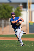 Texas Rangers Blaine Prescott (80) during an instructional league game against the San Diego Padres on October 9, 2015 at the Surprise Stadium Training Complex in Surprise, Arizona.  (Mike Janes/Four Seam Images)