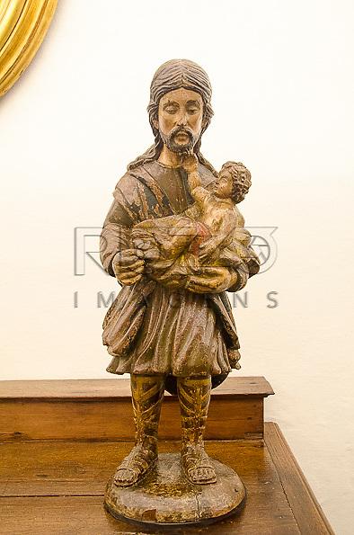 São José, século XVIII, madeira policromada, Bahia. Acervo do Museu de Arte Sacra de São Paulo, São Paulo - SP, 02/2013.
