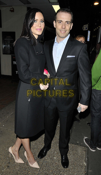 LONDON, ENGLAND - FEBRUARY 27: Linzi Stoppard &amp; Will Stoppard attend the &quot;War Horse&quot; NT Live gala performance, The New London Theatre, Drury Lane, on Thursday February 27, 2014 in London, England, UK.<br /> CAP/CAN<br /> &copy;Can Nguyen/Capital Pictures