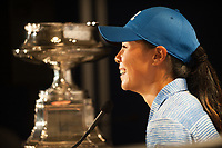 OLYMPIA FIELDS, IL - July 02: Champion, Danielle Kang of the United States poses for a photo with the trophy after winning the 2017 KPMG Women&rsquo;s PGA Championship held at Olympia Fields Country Club on July 02, 2017 in Olympia Fields, Illinois. <br /> Photo by: Golffile   Montana Pritchard/PGA of America<br /> <br /> Images must display mandatory copyright credit - (Copyright: Montana Pritchard   PGA of America   Golffile)
