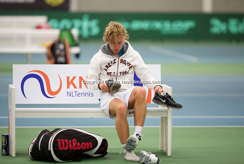 March 13, 2015, Netherlands, Rotterdam, TC Victoria, NOJK, Luuk Wassenaar (NED) Olger van Gent (NED)<br /> Photo: Tennisimages/Henk Koster