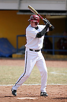 March 22nd 2009:  Left Fielder Ryan Murphy (34) of the Rider University Broncs during a game at Sal Maglie Stadium in Niagara Falls, NY.  Photo by:  Mike Janes/Four Seam Images