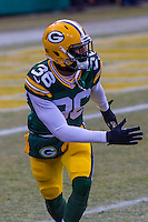 Green Bay Packers cornerback LaDarius Gunter (36) prior to a game against the New York Giants on January 8th, 2017 at Lambeau Field in Green Bay, Wisconsin.  Green Bay defeated New York 38-13. (Brad Krause/Krause Sports Photography)