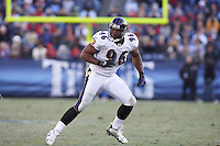Ravens linebacker Adalius Thomas in action against the Titans at LP Field in Nashville, Tennessee on November 12, 2006. Baltimore won 27-26.