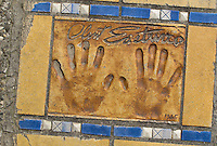 Hand print of the film star and director, Clint Eastwood, outside the Palais des Festivals et des Congres, Cannes, France.