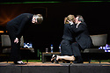 Toneelgroep Amsterdam presents<br /> &quot;Roman Tragedies&quot;, a seamless interpretation of William Shakespeare's &quot;Coriolanus&quot;, Julius Caesar&quot; and &quot;Anthony and Cleopatra&quot;, in the Barbican Theatre. The Barbican first introduced Toneelgroep Amsterdam to UK audiences in 2009 with this same production. Picture shows: Coriolanus - Frieda Pittoors (Volumnia), Janni Goslinga (Virgilia), Gijs Scholten van Aschst (Coriolanus)