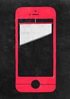 Guillotine on smart phone screen ExclusiveImage