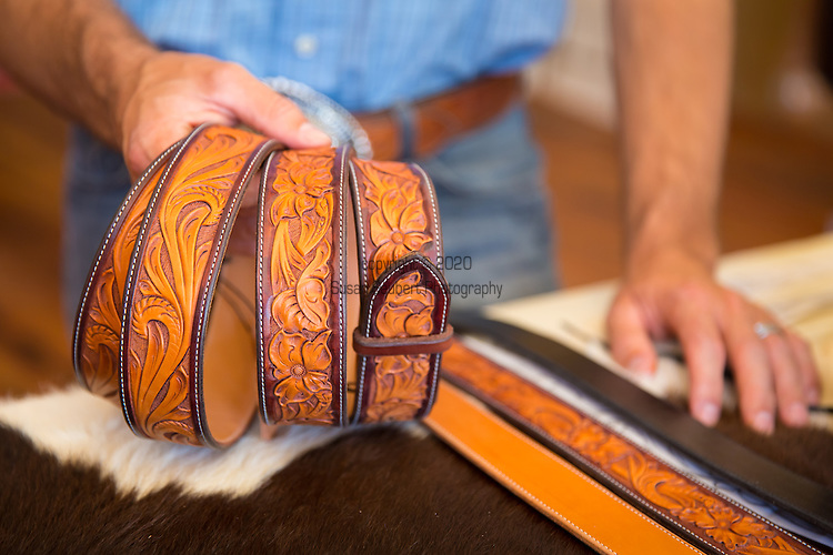 23 Plus, a custom leather work shop in downtown Pendleton, Oregon owned by leather worker Joe Meling