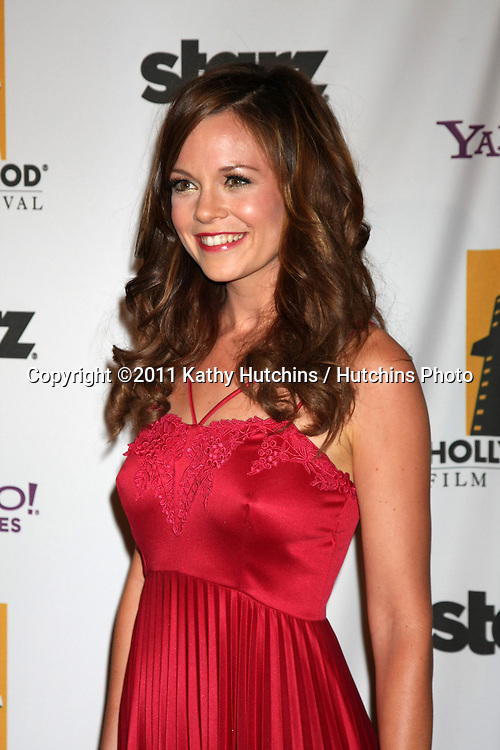 LOS ANGELES - OCT 24:  Rachel Boston arriving at the 15th Annual Hollywood Film Awards Gala at Beverly Hilton Hotel on October 24, 2011 in Beverly Hllls, CA
