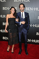 "HOLLYWOOD, CA - AUGUST 16: Mel Fronckowiak, Rodrigo Santoro at the LA Premiere of the Paramount Pictures and Metro-Goldwyn-Mayer Pictures title ""Ben-Hur"", at the TCL Chinese Theatre IMAX on August 16, 2016 in Hollywood, California. Credit: David Edwards/MediaPunch"
