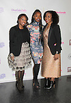 Delaina Dixon & Maame Yaa Boafo & Maureen Tokeson-Martin -  Color of Beauty Awards hosted by VH1's Gossip Table's Delaina Dixon and Maureen Tokeson-Martin on February 28, 2015 with red carpet, awards and cocktail reception at Ana Tzarev Gallery, New York City, New York.  (Photo by Sue Coflin/Max Photos)
