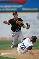 June 15 2007:  Jason Van Kooten of the Modesto Nuts during game against the Rancho Cucamonga Quakes at The Epicenter in Rancho Cucamonga,CA.  Photo by Larry Goren/Four Seam Image