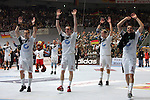 Nach 167 L&permil;nderspielen mit 576 Toren beendet Holger Glandorf seine Karriere in der deutschen Handball-Nationalmannschaft. Der 31-j&permil;hrige Linksh&permil;nder war 2007 Weltmeister und gewann im Juni mit der SG Flensburg-Handewitt die Champions League<br /> Archiv aus: <br />  WM  2007 - Deutschland , Spielort Dortmund   / Hauptrunde / Gruppe 1<br /> <br /> Frankreich  ( FRA ) vs Deutschland ( GER )<br /> <br /> Christian Zeitz, Holger Glandorf, Pascal Hens und Dominik Klein (Deutschland, l-r) freuen sich nach dem 29:26 Sieg gegen Frankreich mit dem Publikum in der Westfalenhalle.<br /> <br /> Foto &copy; nordphoto