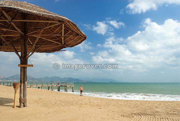 "Asia, Vietnam, Nha Trang. The ""Resort Ana Mandara"" bar at Nha Trang's beach promenade Tran Phu."