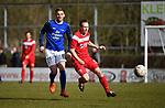 2018-03-11 / Voetbal / Seizoen 2017-2018 / VC Herentals - KFC Nijlen / Gianni Mari&euml;n met Gianni Convalle (r. Herentals)<br /> <br /> ,Foto: Mpics.be