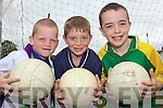 ON THE BALL: Enjoying the GAA Cu?l Camp at the Coolard grounds in Ballydonoghue last week, l-r: Paddy Foley, Jack Kennelly, Fergal Leahy.