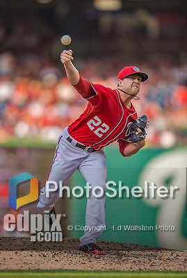 8 June 2013: Washington Nationals pitcher Drew Storen on the mound against the Minnesota Twins at Nationals Park in Washington, DC. The Twins edged out the Nationals 4-3 in 11 innings. Mandatory Credit: Ed Wolfstein Photo *** RAW (NEF) Image File Available ***