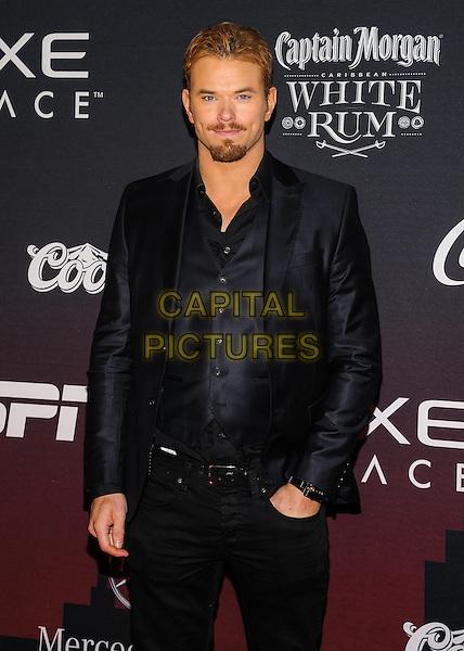 31 January 2014 - New York, New York- Kellan Lutz. ESPN The Party.  <br /> CAP/ADM/MSA<br /> &copy;Mario Santoro/AdMedia/Capital Pictures