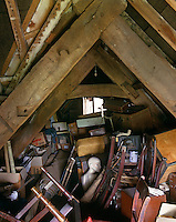 The lumber room in this attic has accumulated 300 years of abandoned possessions