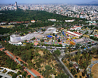 aerial photograph of La Feria, in Chapultepec Park,  Mexico City