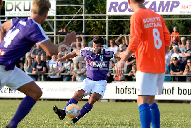 NIEUW BUINEN - Voetbal , Nieuw Buinen - FC Groningen, voorbereiding seizoen 2018-2019, 04-07-2018,  FC Groningen speler Michael Breij scoort 0-1