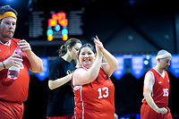 Mana Special Olympics team halftime feature match at TSB Bank Arena in Wellington, New Zealand on Sunday, 27 May 2018. Photo: Dave Lintott / lintottphoto.co.nz