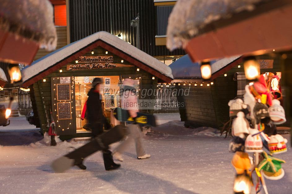 Europe/Finlande/Laponie/Levi: Le marché de Noêl