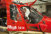 "Switzerland. Canton Ticino. Locarno Airport LSZL. The Rega base's official name is Locarno LSMO AFB (Rega 6). The pilot Corrado Sasselli is upgrading the Euronav system (Maps) into a Rega Agusta AW109 SP Grand ""Da Vinci"" helicopter. All Rega helicopters carry a crew of three: a pilot, an emergency physician, and a paramedic who is also trained to assist the pilot for radio communication, navigation, terrain/object avoidance, and winch operations. The name Rega was created by combining letters from the name ""Swiss Air Rescue Guard"" as it was written in German (Schweizerische Rettungsflugwacht), French (Garde Aérienne Suisse de Sauvetage), and Italian (Guardia Aerea Svizzera di Soccorso). Rega is a private, non-profit air rescue service that provides emergency medical assistance in Switzerland. People in distress can call for a helicopter rescue directly (phone number 1414). Rega mainly assists with mountain rescues, though it will also operate in other terrains when needed, most notably during life-threatening emergencies. As a non-profit foundation, Rega does not receive financial assistance from any government. The AgustaWestland AW109 is a lightweight, twin-engine, helicopter built by the Italian manufacturer Leonardo S.p.A. (formerly AgustaWestland, Leonardo-Finmeccanica and Finmeccanica). Leonardo S.p.A is an Italian global high-tech company and one of the key players in aerospace. In close collaboration with the manufacturer, the Da Vinci has been specially designed to cater for Rega's particular requirements as regards carrying out operations in the mountains. It optimally fulfills the high demands made of it in terms of flying characteristics, emergency medical equipment and maintenance. Safety, performance and space have been increased, and maintenance and noise emissions reduced. 9.09.2017 © 2017 Didier Ruef"