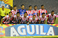 BARRANQUILLA- COLOMBIA, 8-12-2018:Formación del Atlético Junior ante el Indepediente Medellín durante el primer  partido de la final  de la Liga Águila II 2018 jugado en el estadio Metropolitano Roberto Meléndez de la ciudad de Barranquilla. / Team of Atletico Junior agaisnt of  Independiente Medellin during the first leg match Liga Aguila II 2018 played at the Metropoltano Roberto Melendez Stadium in Barranquilla  city. Photo: VizzorImage / Alfonso Cervantes / Contribuidor