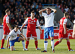 Dejection from Lee McCulloch as Rangers lose